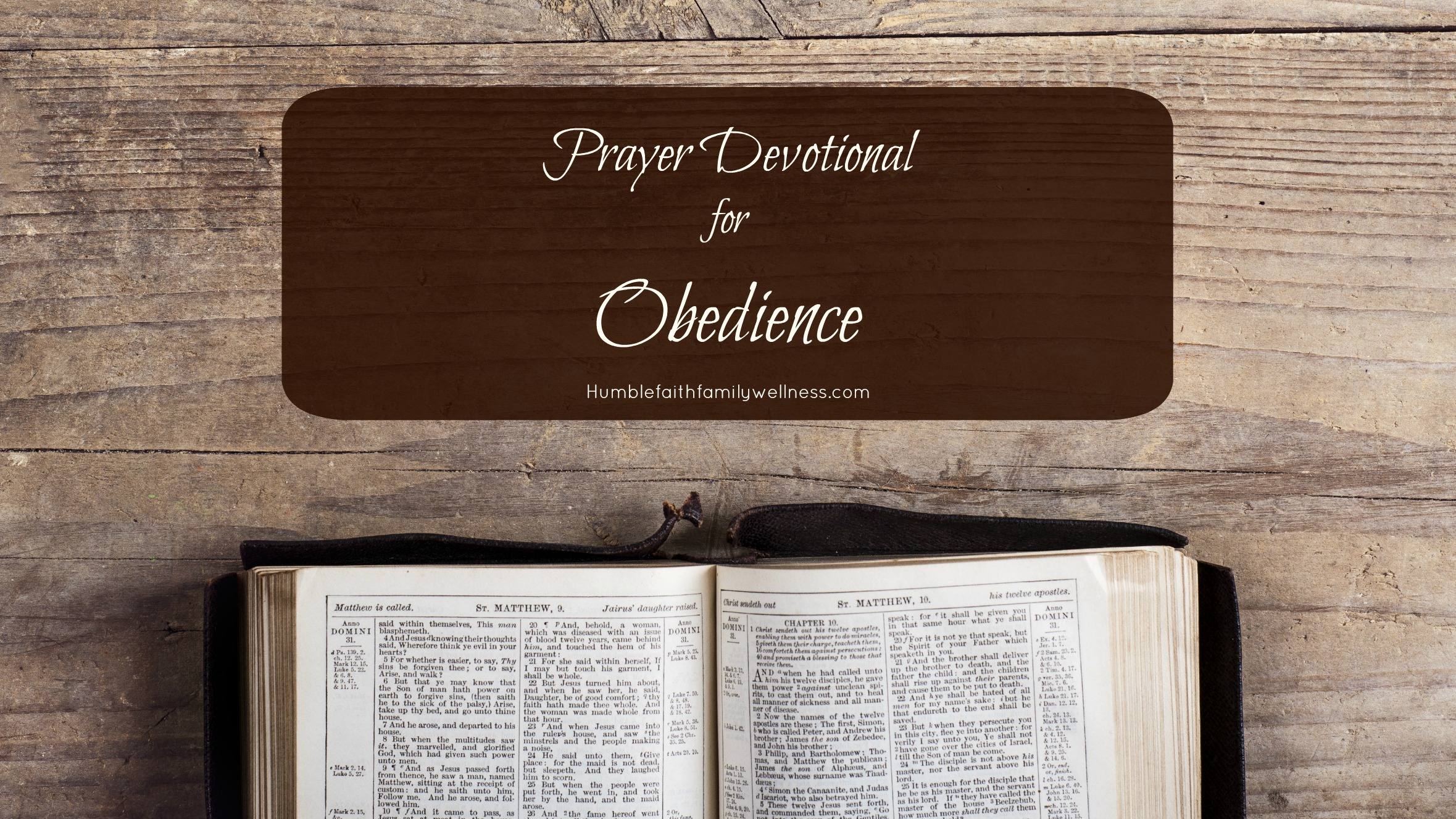 Obedience, Prayer Devotional